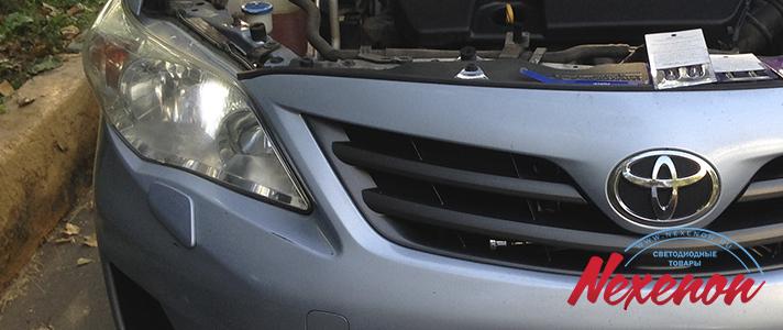 Светодиодные габариты Toyota Corolla