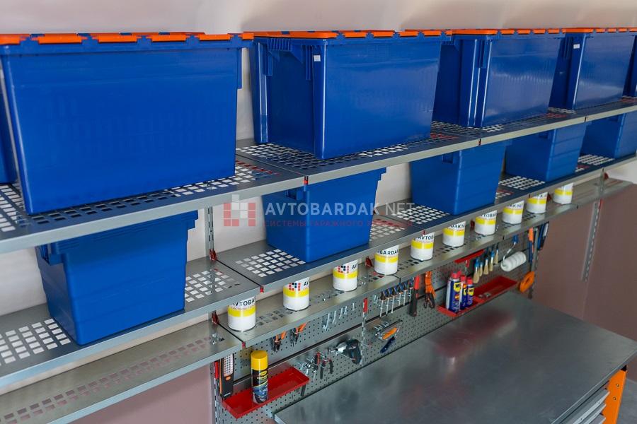 Модульная система настенных металлических полок