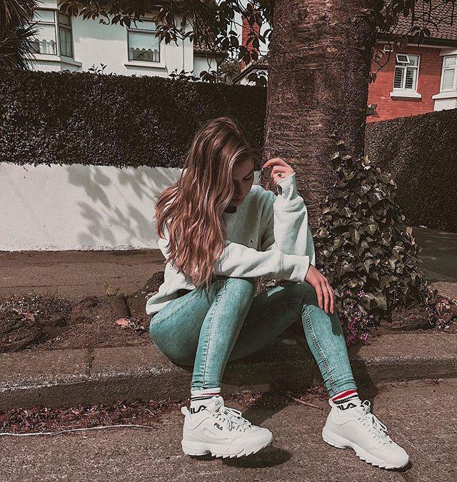 Fila Disruptor с джинсами