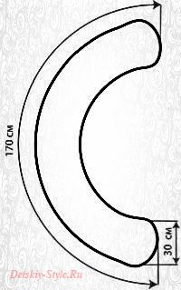 Подушка для Беременных С 170x30 см