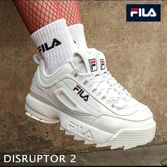 Фила дизраптор 2 белые с носочками