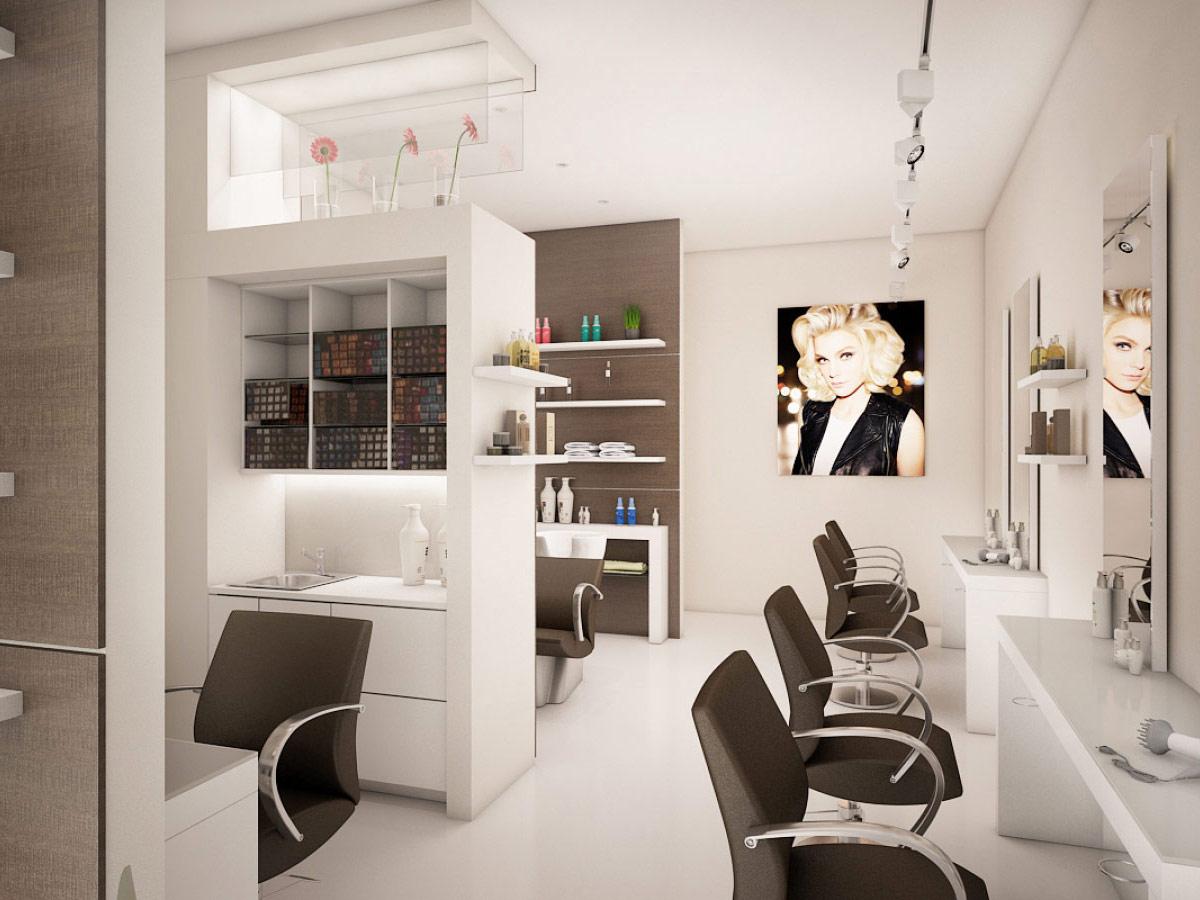 Разработка стильного дизайна салона красоты