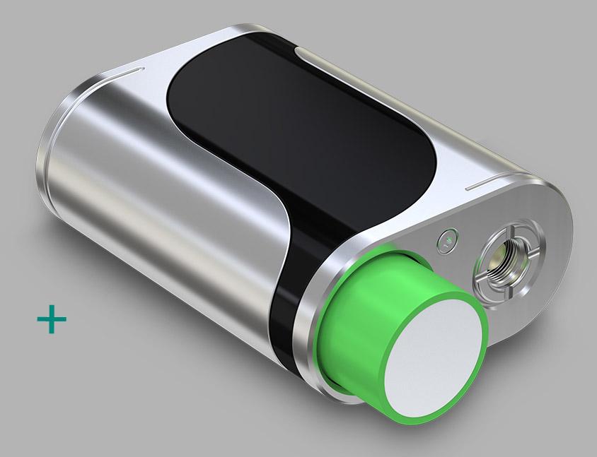 iStick Pico 25 питается от одной батарейки 18650