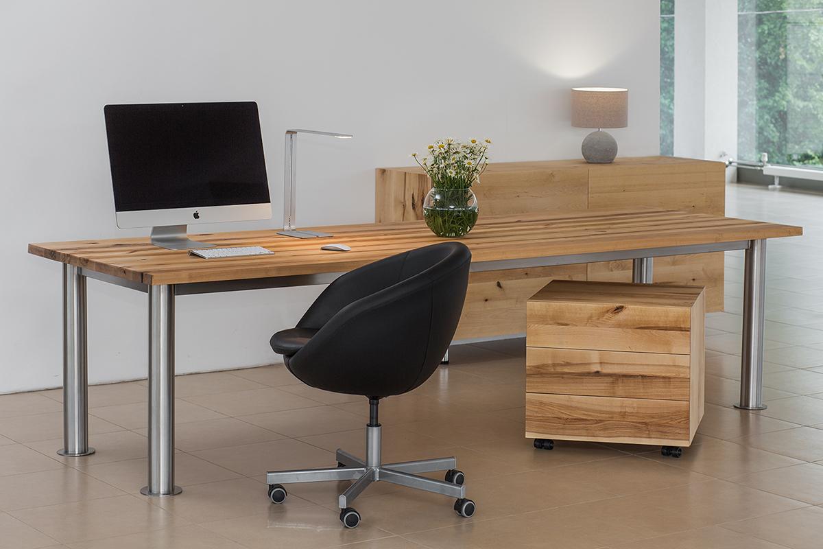 Большие столы для офиса из массива дерева TRIF-MEBEL на заказ