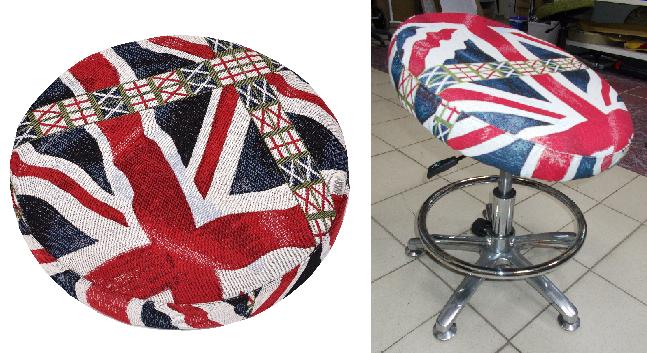 На третьем месте ТОПа находится стул с дизайном «Британский флаг».