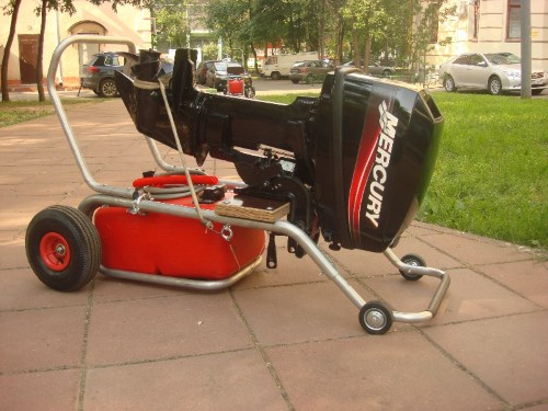 коляски для перевозки лодочных моторов