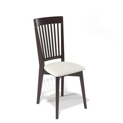 Деревянный стул Kenner 110М, с мягким сиденьем, цвет - венге/белый