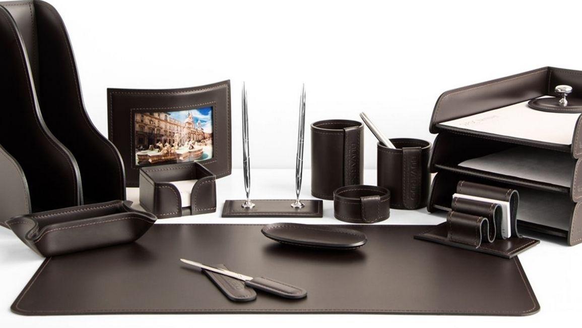 Фото набор руководителя серия Бизнес цвет темно-коричневый шоколад.