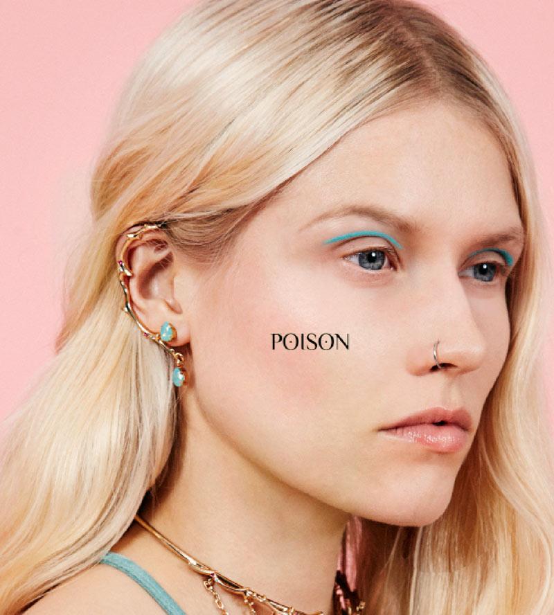 Ассиметричные-серьги-Poison-от-Maria-Francesca-Pepe-lookbook.jpg