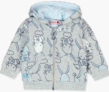 Толстовка Boboli Голубые зайчики купить в интернет-магазине Мама Любит с доставкой по России!