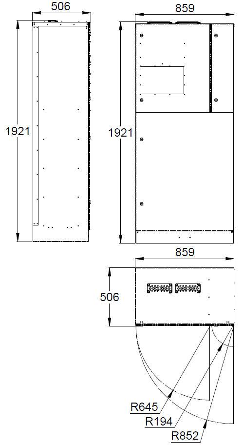Монтажные размеры адресного блока системы эвакуационного освещения TKT68C Teknoware