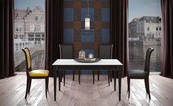 Стол кухонный KENNER J1400, раздвижной, венге/стекло крем