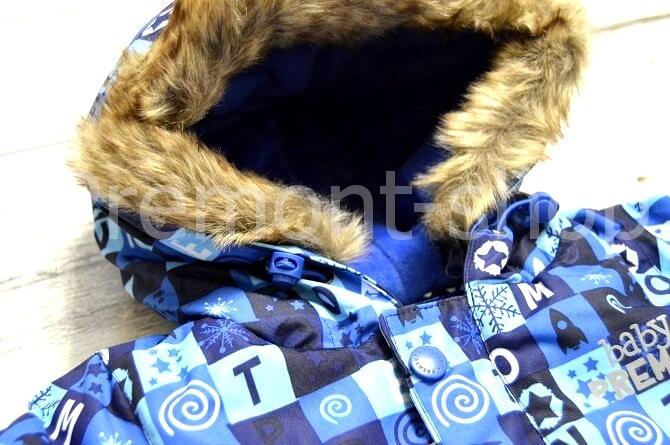 Капюшон на комбинезоне Premont Голубые льдинки