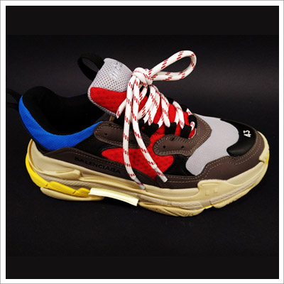Balenciaga Men's Triple S White/Gray/Red/Blue