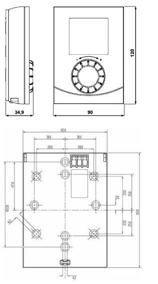 Размеры Siemens RDH10-XA