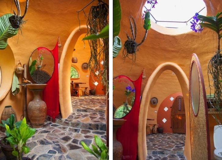 интерьер купольного дома.
