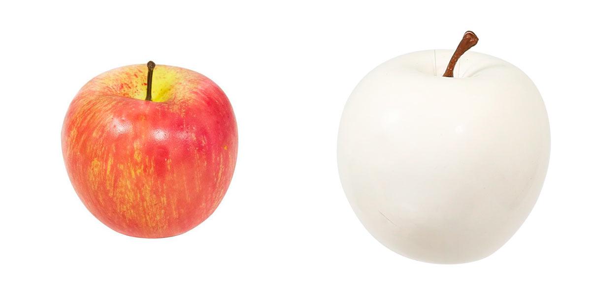 муляж яблока из пенопласта.