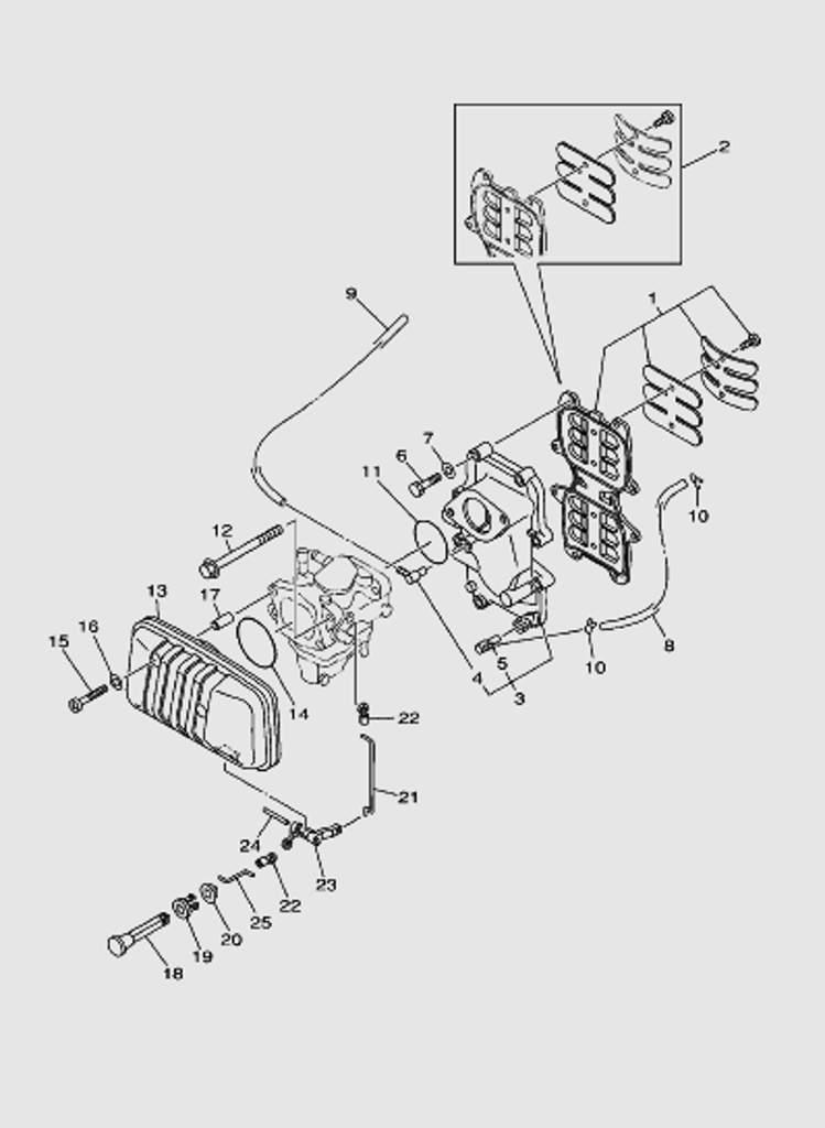 Выхлопная система для лодочного мотора T40 SEA-PRO