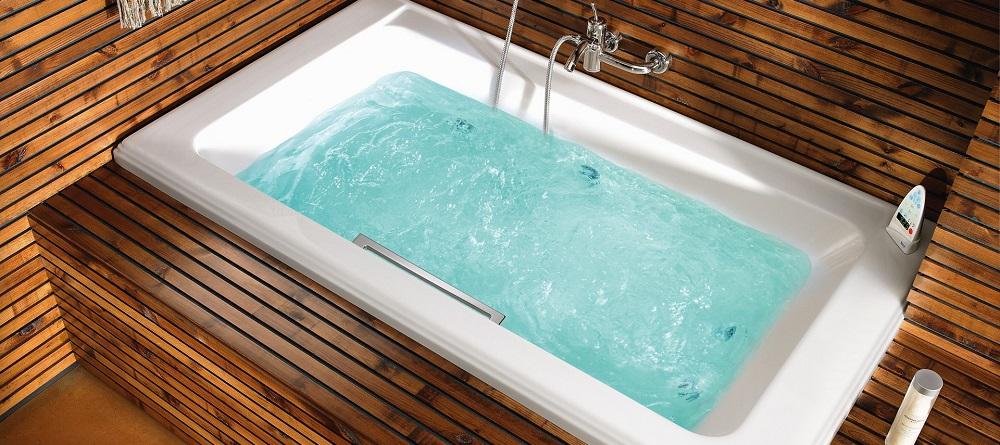 Сидячая прямоугольная ванна с гидромассажем