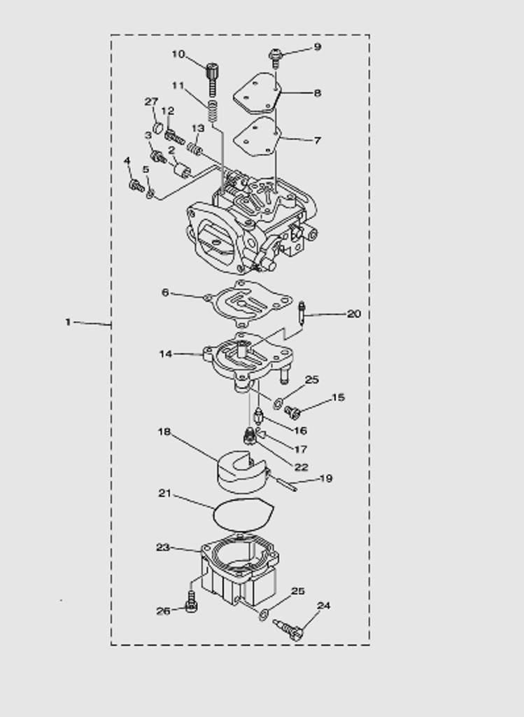 Карбюратордля лодочного мотора T40 Sea-PRO