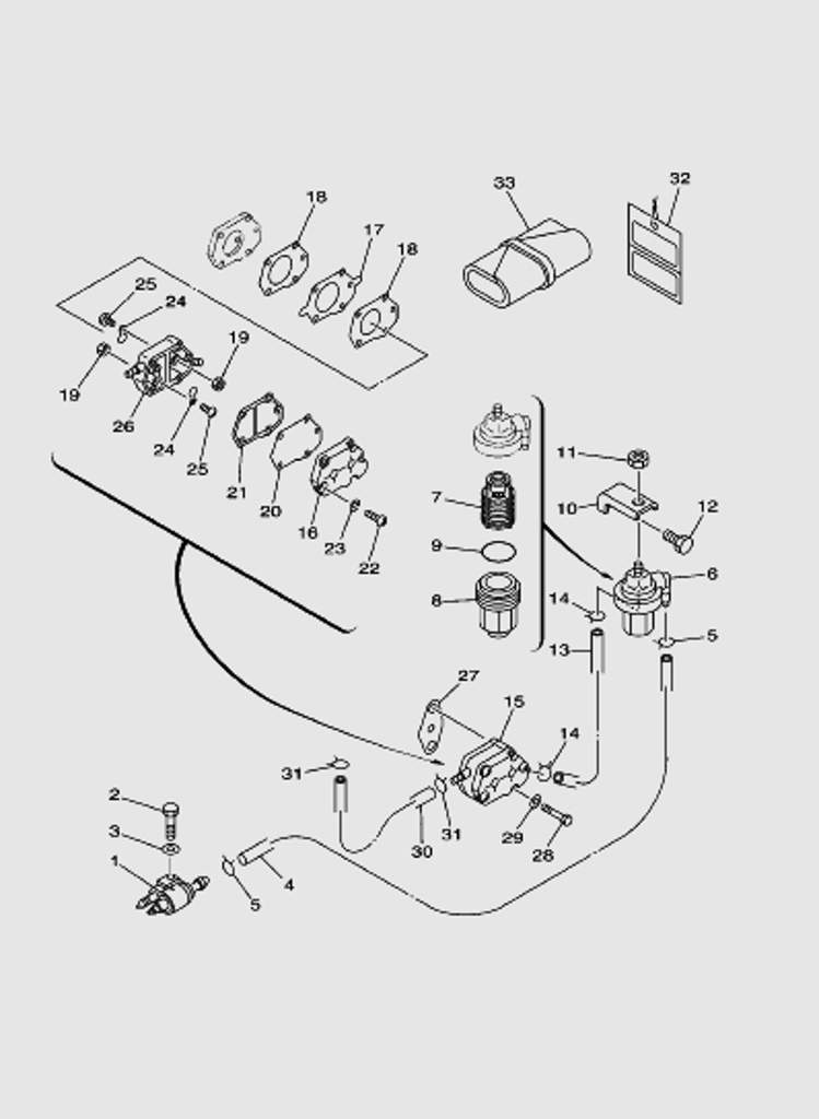 Топливная система для лодочного мотора T40 Sea-PRO