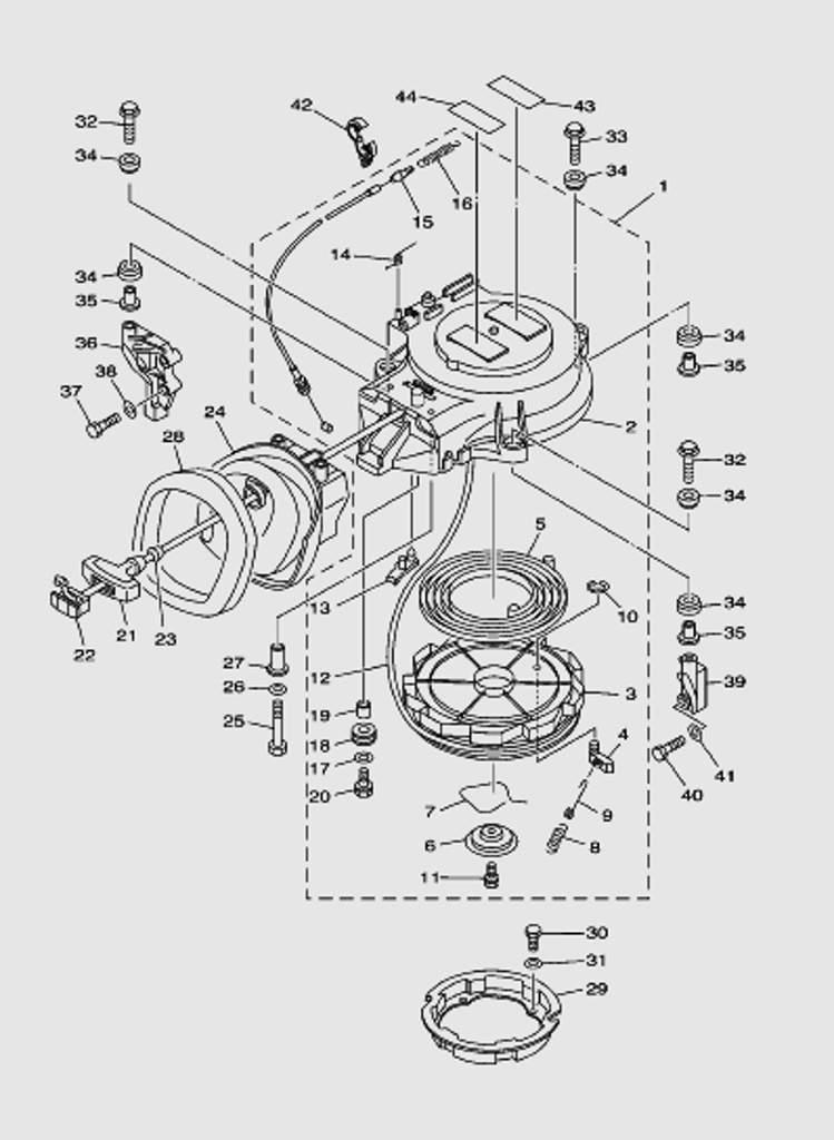 Стартер для лодочного мотора T40 Sea-PRO