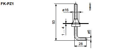 Размеры воздухозаборной трубки Siemens FK-PZ1