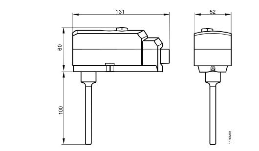 Размеры ограничителя Siemens RAK-TB.1410B-M