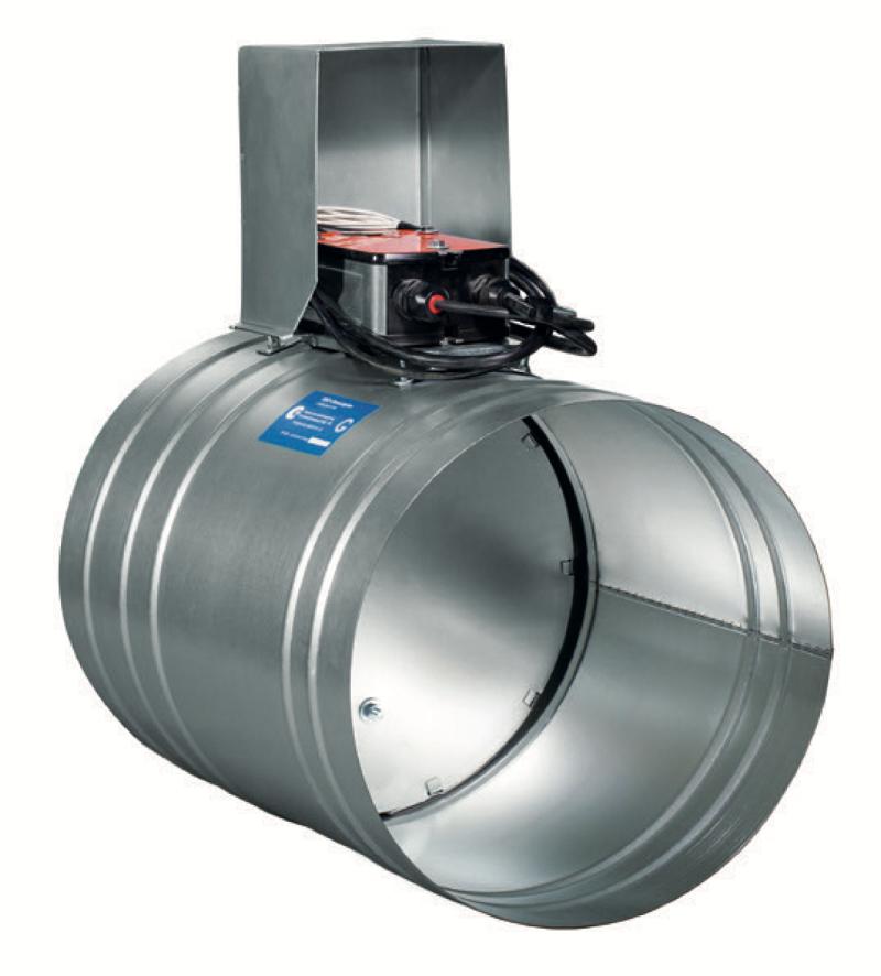 Схема клапана КОД-1М, EI-120 НЗ, диаметр Ф450 мм, BLE230