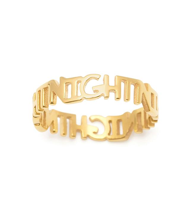 стильное кольцо ручной работы Night Lettered на фалангу от итальянского бренда Maria Francesca Pepe