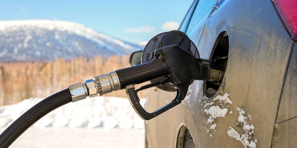 Заправка газом зимой