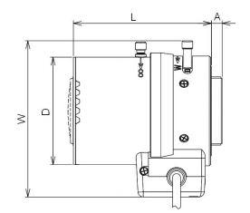 Размеры объектива для камеры CLVD1316/2.8-8