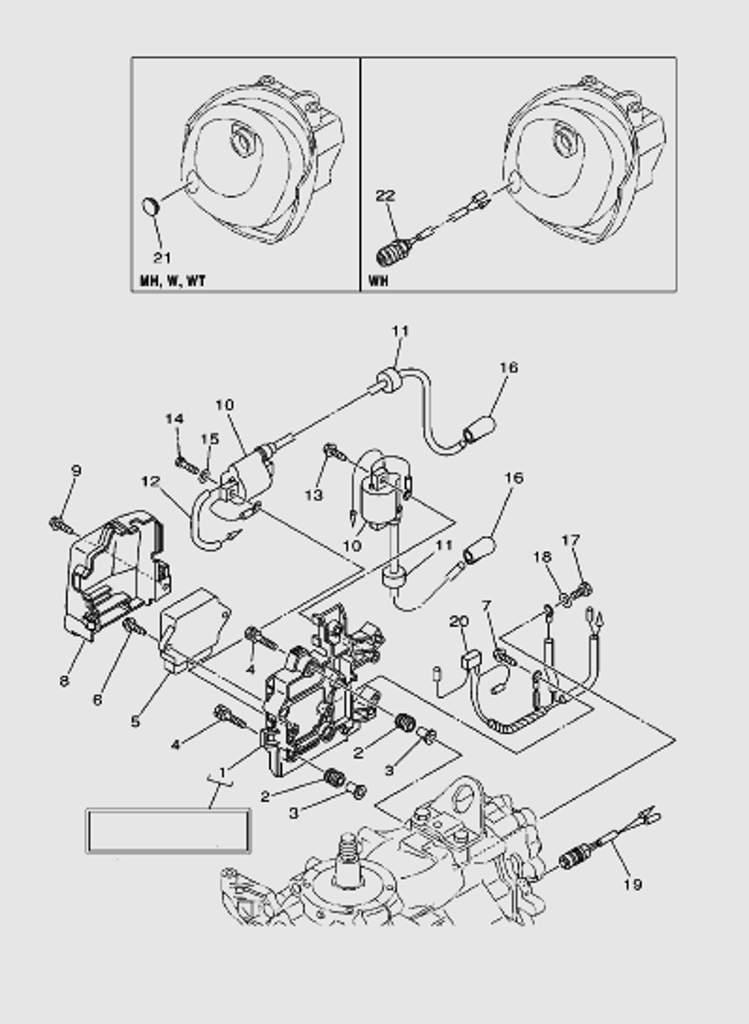 Электрика для лодочного мотора T40 Sea-PRO