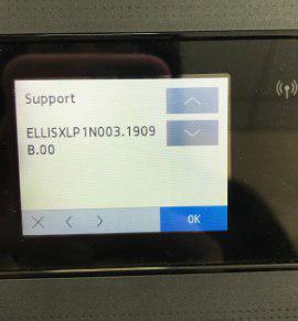 Узнать версию прошивки на устройстве HP можно в сервисном меню.