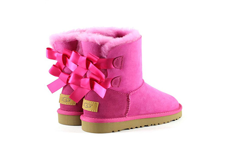 Close-up of UGG Baby Boots.