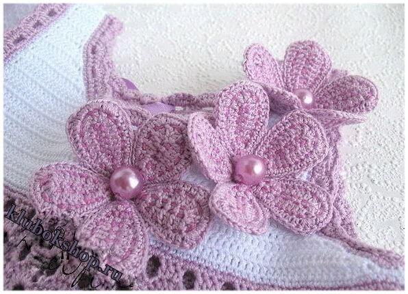 Вязание декора для скатерти