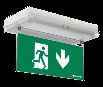 SOLID EXIT Световой эвакуационный указатель для аварийного освещения автомобильных стоянок и парковок