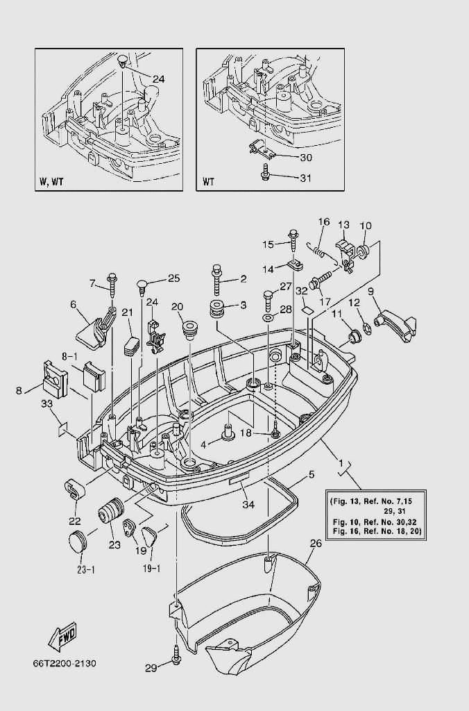 Поддон для лодочного мотора T40 Sea-PRO