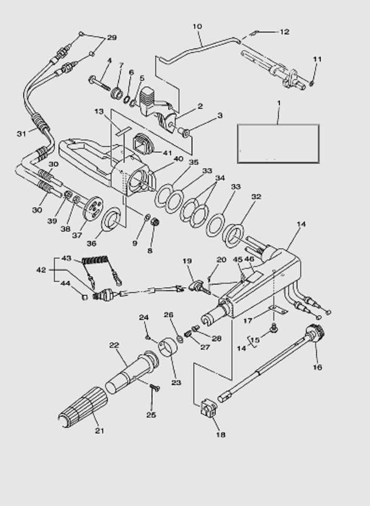 Румпель для лодочного мотора T40 Sea-PRO