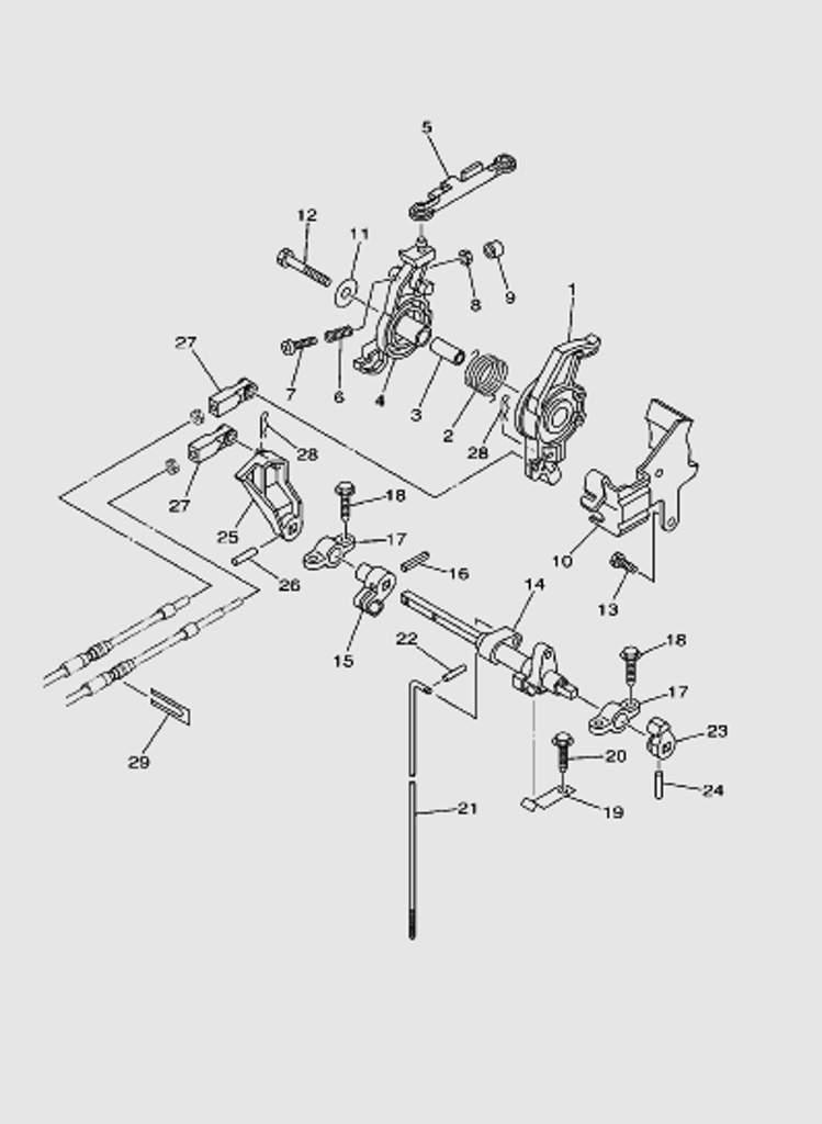 Управление для лодочного мотора T40 Sea-PRO