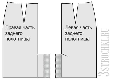 Обработка шлицы на юбке мастер класс