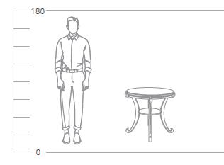 журнальный столик глория М висан размеры