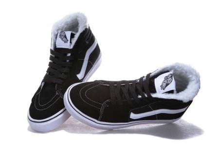 кроссовки на меху Vans Sk8-Hi