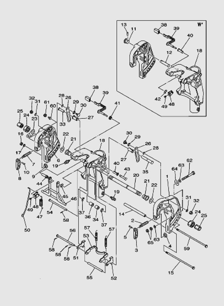 Кронштейн для лодочного мотора T40 Sea-PRO