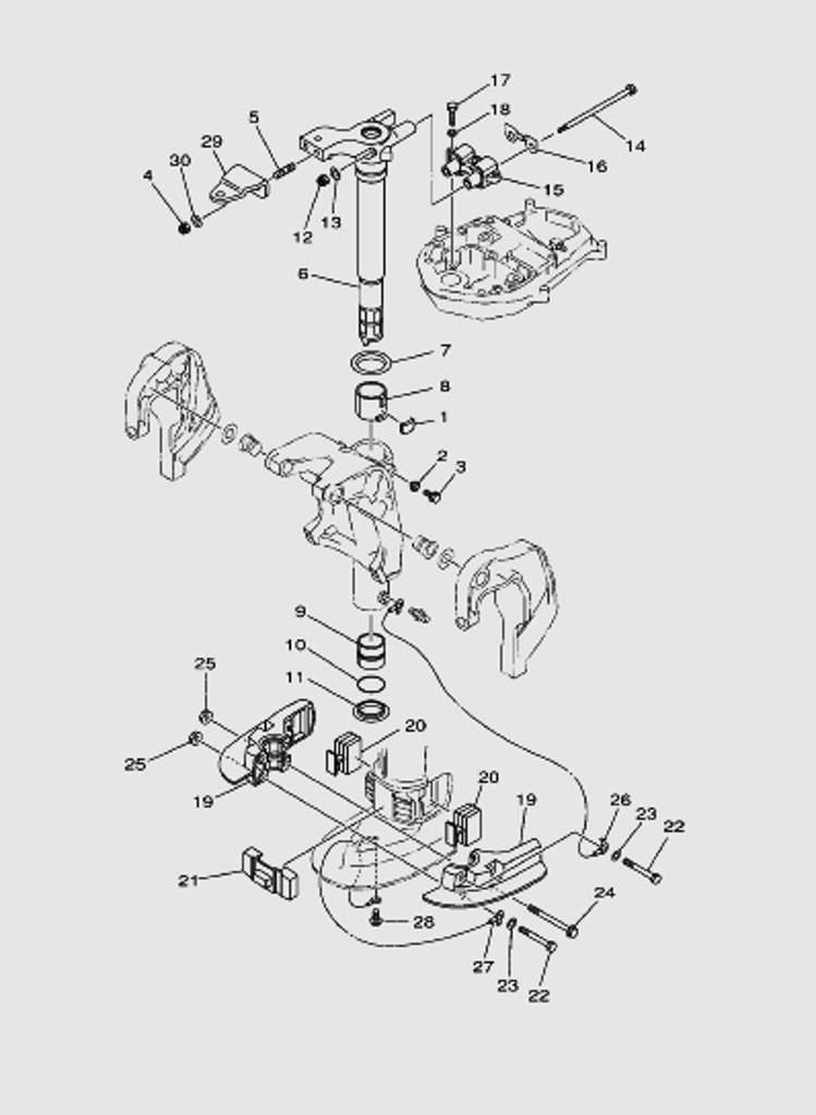 Кронштейн часть 2 для лодочного мотора T40 Sea-PRO