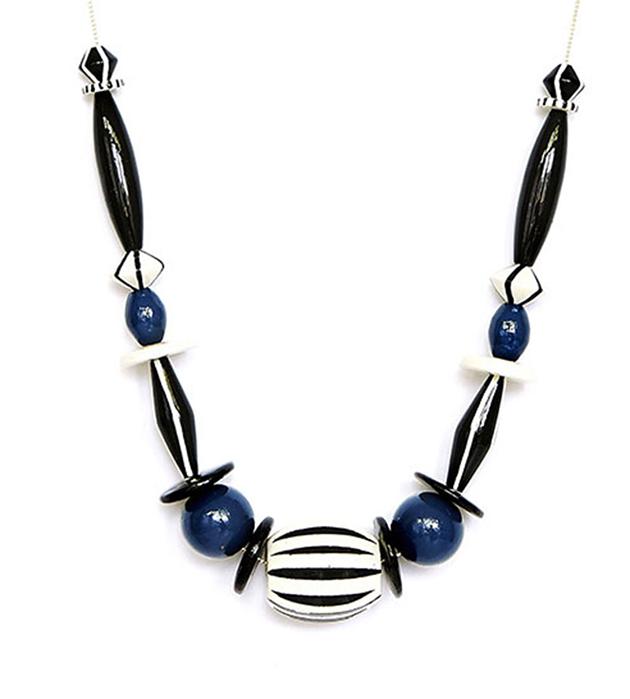 сине-чёрное ожерелье из дерева MOON от Apres Ski