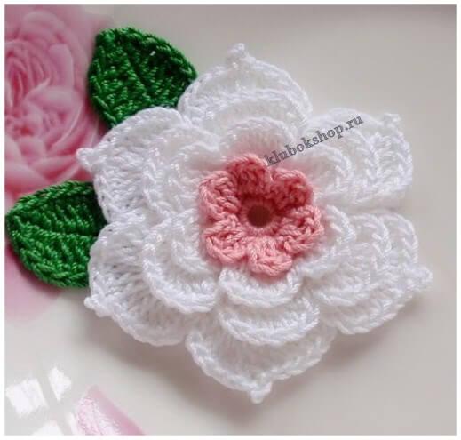 Вязание цветка