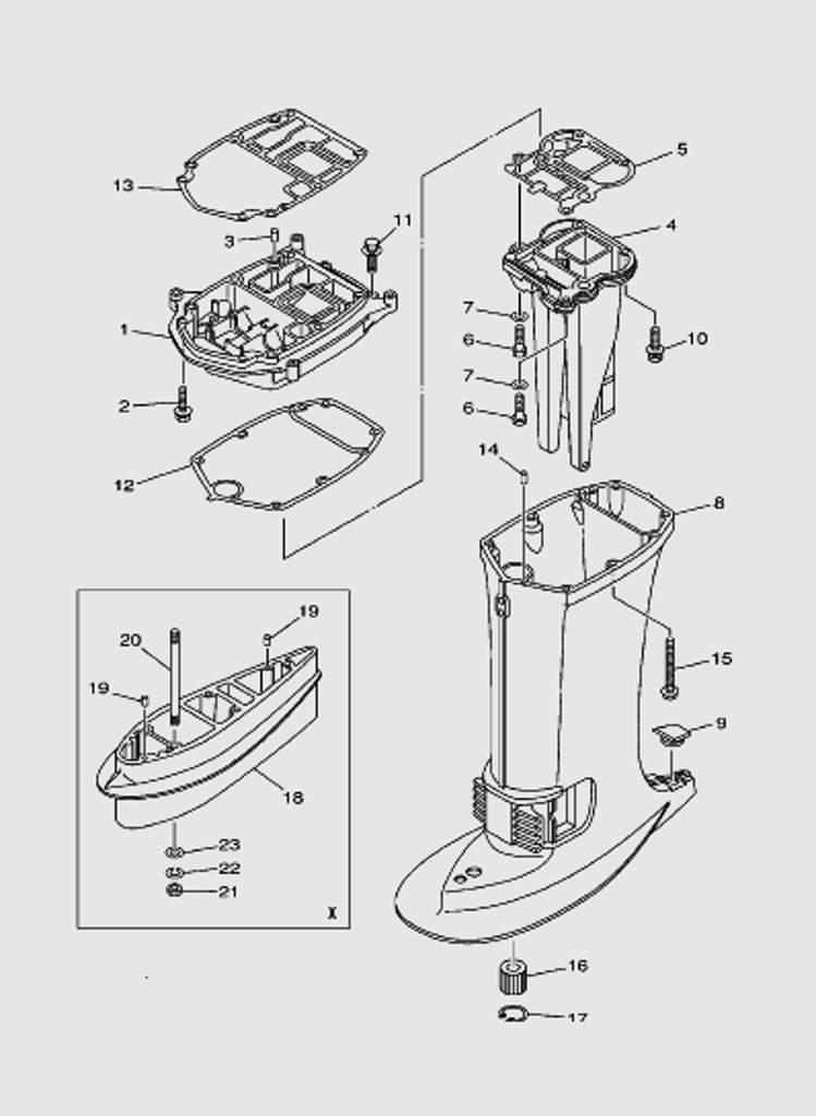 Верх корпуса для лодочного мотора T40 Sea-PRO