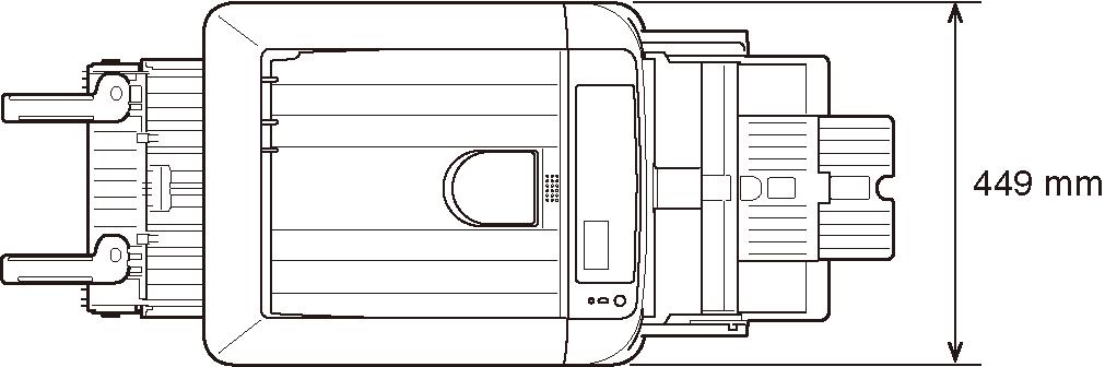 размеры установки oki c824
