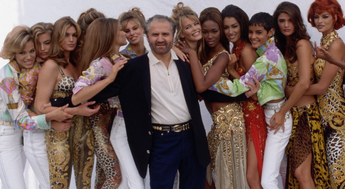 Джанни Версаче с девочками